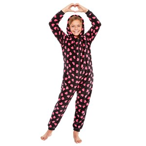 Moxxy Girls Heart Print Onesie