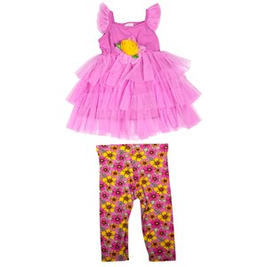 28231 - Girls Tulle Top & Legging Set