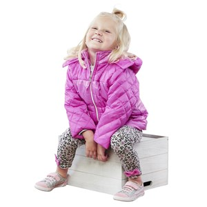 28362 - Girls Quilted Puffer w/Spray Foil