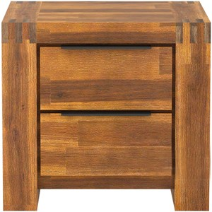 28738 - Aston 2 Drawer Bedside Table