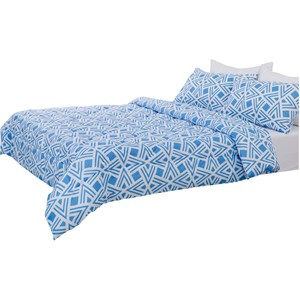 29015 - Geo Blue Comforter Set (Queen)