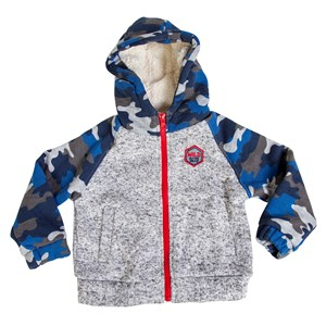 29062 - Boys Full Sweater Knit Jacket With Sherpa Lined Hood