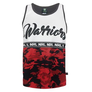 NRL Warriors Camo Singlet