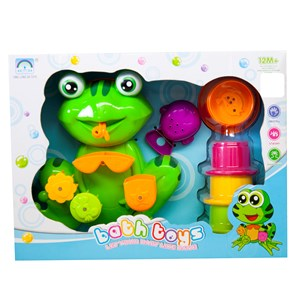 Frog Bath Toy with Stacking Cups