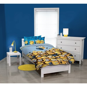 29411 - Minions Testing 1-2-3 Duvet Cover Set (King Single)