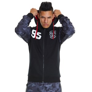 29427 - NRL Warriors Camo Sleeve Full Zip Hoodie