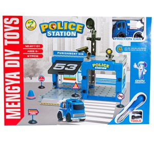 29439 - Police Station with Friction Car