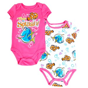 29534 - Infant Girls Dory 2 Pack Romper Set