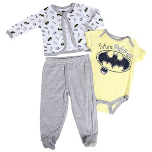 Infant Boys Batman Jacket 3 Piece Set