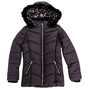 29564 - Moxxy Girls Gold Zip Hooded Puffer Jacket