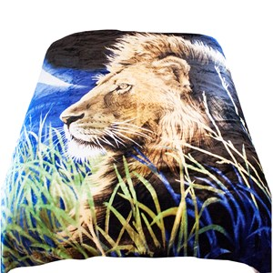 29747 - Majestic Lion Mink Blanket Queen