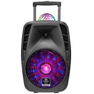 "29857 - Idance Groove 426 Bluetooth Trolley Speaker w/built in FM tuner and 12"" Woofer-Mic included"