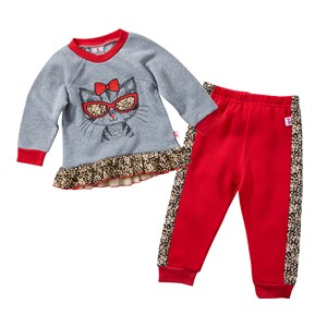 29984 - Infant Girls Snazzy Cat 2 Piece Pants Set