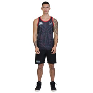 30002 - NRL Warriors Tiki Sub Singlet