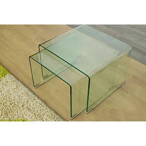 30130 - Murano Bent Glass Nest of Tables