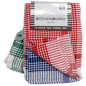 30184 - Kitchen Works 10pk Tea Towels