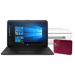 "30196 - HP 14"" Notebook with 1TB Hard Drive & Printer"