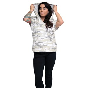 30422 - Camo Crop Sweat Top