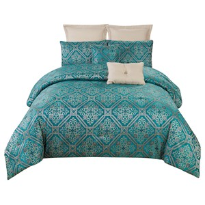 30448 - Raoul 7 Piece Comforter Set (Super King)