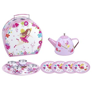 30564 - Pink Poppy My Fairytale Tin Tea Set in Carry Case