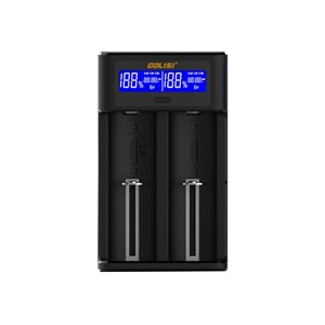 30822 - GOLISI  Smart USB Dual Battery Charger with LCD Screen