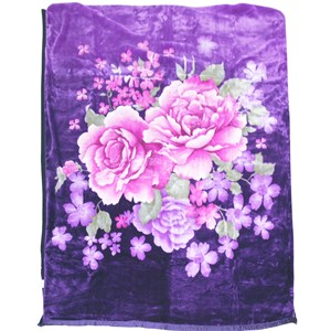 31141 - Floral Purple Mink Blanket