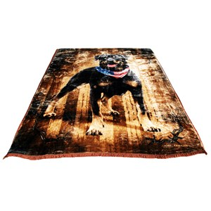 31143 - Patriotic Dog Mink Blanket