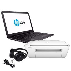 "31211 - HP 15.6"" Built-in DVD Laptop w/HP Printer & Panasonic Over Ear Headphones"