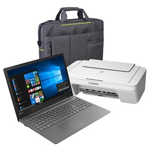 31231 - Lenovo V130 Laptop, Carry Bag & Canon Printer