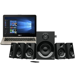 31309 - ASUS Vivo Laptop w/built in DVD writer & Logitech Z607 5.1 Surround Sound Speaker System