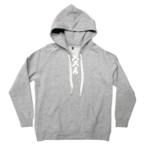 31366 - Laced Tie Front Hoodie