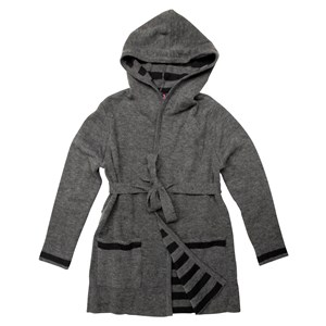 31373 - Striped Hooded Cardigan Plus