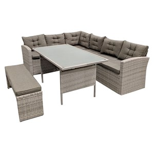 31393 - Milton Sectional Sofa + Outdoor Dining Set