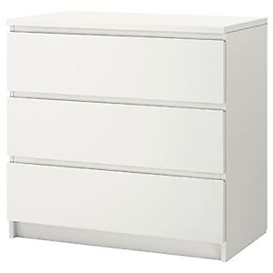 31428 - Ikea Malm Chest of 3 Drawers