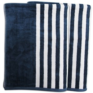 31477 - Miami Stripe Over-sized Beach Towel 2 Pack