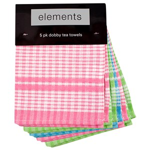 31560 - Dobby Tea Towel Set 5 Pack