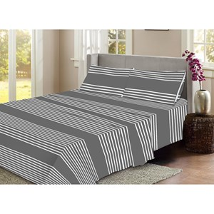 31592 - Flannelette Stripe Sheet Set Single