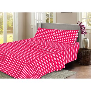 31597 - Flannelette Check Sheet Set King