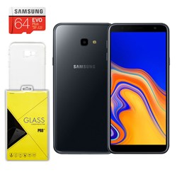 Samsung Galaxy J4+ Smartphone w/case, screen protector and 64GB SD card