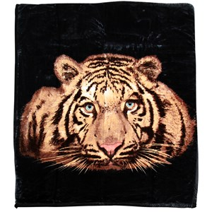 31682 - Tiger Face Mink Blanket