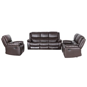 31871 - Brighton 3+2 Sofa Suite with 4 Recliners