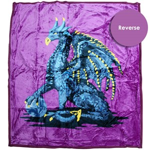 32012 - Magic Dragon Mink Blanket Queen