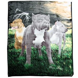 32159 - Pitbull Mink Blanket Queen