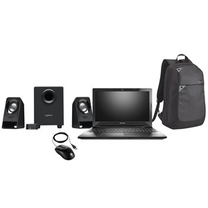 "32199 - Lenovo Z50 15.6"" Laptop w/DVD Drive & 1TB storage + Bag, mouse, Logitech Multimedia Speaker"