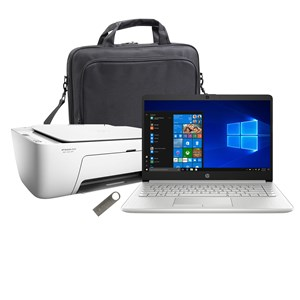 "32318 - HP 14"" Laptop with 64GB USB Drive, HP Wireless Printer and Carry Bag"