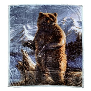 32596 - Grizzly Up Mink Blanket Queen
