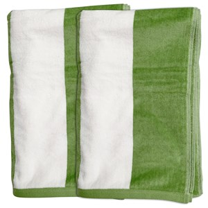 33014 - 2pk Cabana Stripe Beach Towels