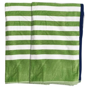 33015 - 2pk Oversize Stripe Beach Towels