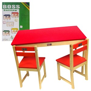 33188 - Tikk Tokk Boss Setting Table and Chair Set Red