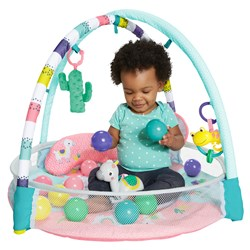 4-in-1 Rounds of Fun™ Activity Gym & Ball Pit - Pink